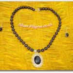 Silver Filigree Black Necklace