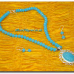 Silver Filigree Ocean Necklace Set